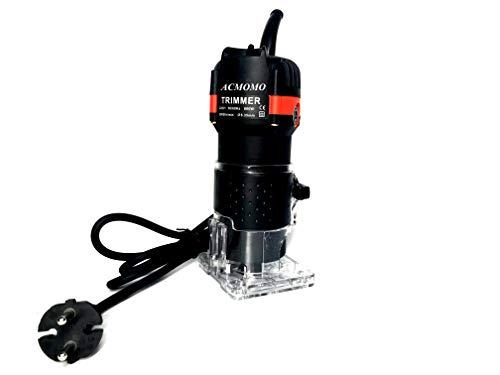 Fresatrice Rifilatore - Bordo Legno Laminato Trimmer manuale elettrico Laminatore Trim Router 30000r/min 800W per Lavorazione del Legno Rifinitura Scanalatura Intaglio