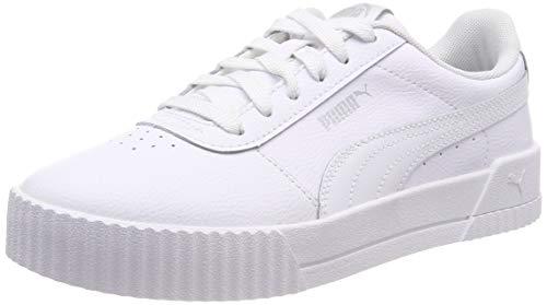 Puma Damen Carina L Sneaker, Weiß (Puma White-Puma White-Puma Silver), 40 EU