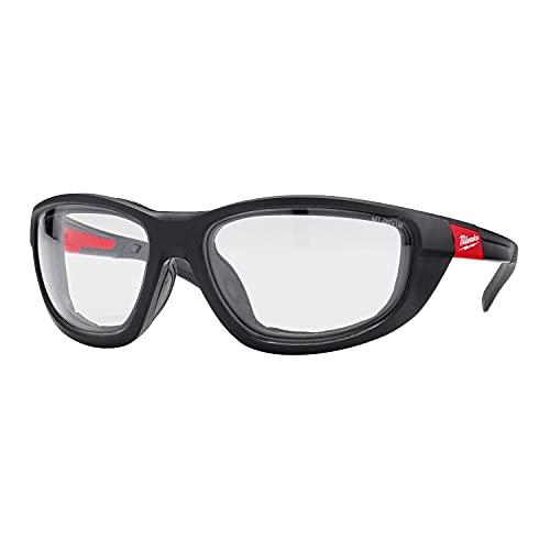 Milwaukee Gafas protectoras transparentes de alto rendimiento, con almohadilla de espuma extraíble.