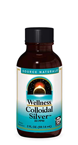 Source Naturals Wellness Colloidal Silver 30 ppm Supports Physical Well Being - 2 Fluid oz