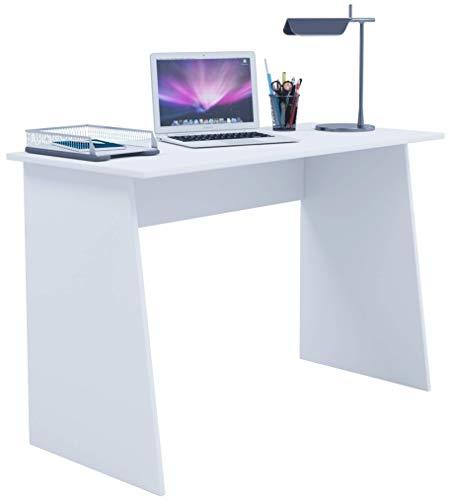 VCM Schreibtisch Computertisch Arbeitstisch Büromöbel PC Laptop Tisch Büro Möbel Weiß 74 x 110 x 50 cm