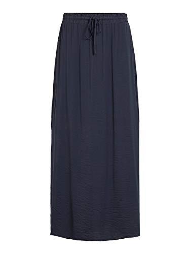 Vila Clothes Vicava Maxi Skirt-Noos Falda, Azul (Total Eclipse Total Eclipse), 36 (Talla del Fabricante: X-Small) para Mujer
