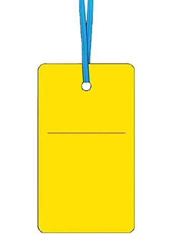 つくし ケーブルタグ 荷札式 黄無地 両面印刷 ビニタイ付き 30F