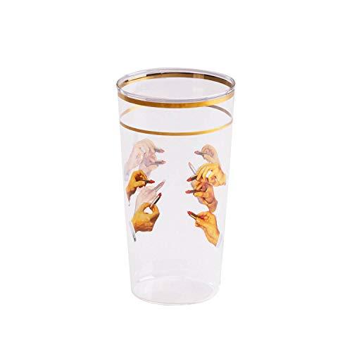 SELETTI TOILETPAPER Bicchieri in Vetro borosilicato, Rossetti