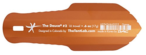 New Improved Deuce(R) Ultralight Backpacking Potty Trowel - Now in 3 Sizes (Orange, #2)