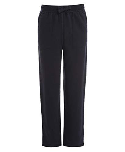 Chaps Boys' School Uniform Sensory-Friendly Soft Knit Pant, Navy, Medium (10/12),Big Boys