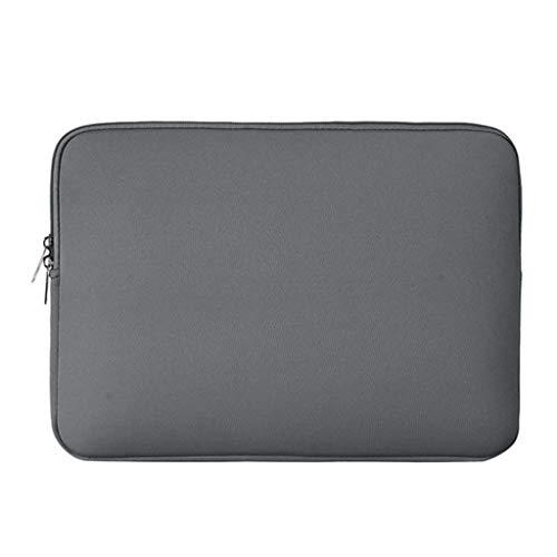 Fenteer Laptoptas Hoes Notebooktas Laptop Ultrabook Notebook Beschermhoes, Kleur En Maat naar Keuze - Grijs