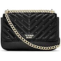 Victoria`s Secret - ¡NOVEDAD! Bolso de hombro pequeño con tachuelas y guateado en V Bond Street - negro