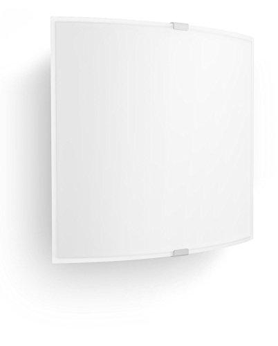 Philips 335173116 Nonni Luminaire d'Intérieur Applique Murale LED Verre Blanc 6 W