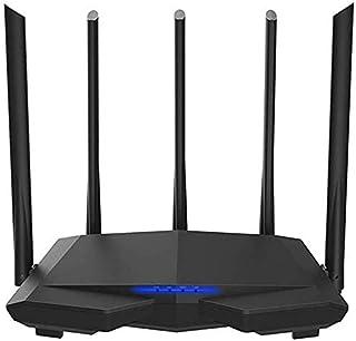 TECHVIDA AC7 Wireless WiFi Router, 11AC 2.4Ghz / 5.0Ghz, Wi-Fi Repeater 1 WAN + 3 LAN Port, 5 6Dbi High Gain Antenna Smart...