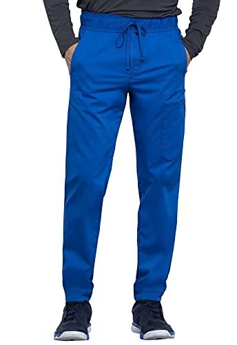 Workwear Revolution Men Scrubs Pant Natural Rise Jogger WW012, M, Royal