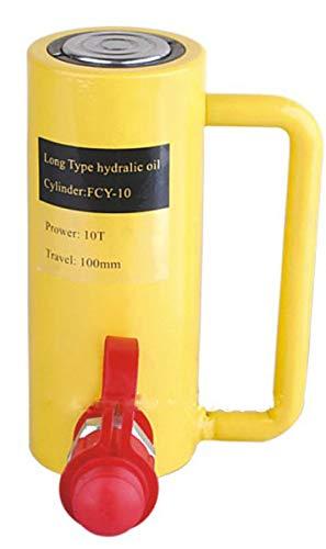 CGOLDENWALL Gato hidráulico de cilindro de aceite hidráulico tipo largo 10T 100mm