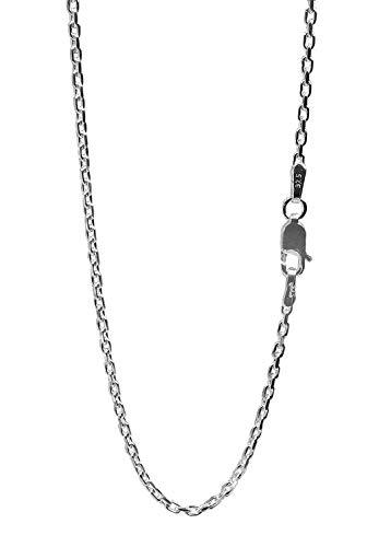 新宿銀の蔵 あずきチェーン 2面カット 長さ40~60cm (45cm) 幅1.8mm シルバー 925 ネックレス チェーン ネックレスチェーン メンズ sv