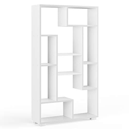 Vicco Raumteiler Domus offene Fächer weiß Bücherregal Standregal Aktenregal (9 Fächer)
