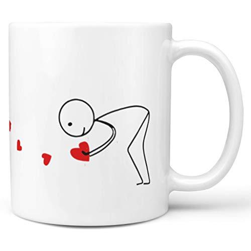 DOGCATPIG Taza de regalo con texto en inglés 'All My Love For You', color blanco