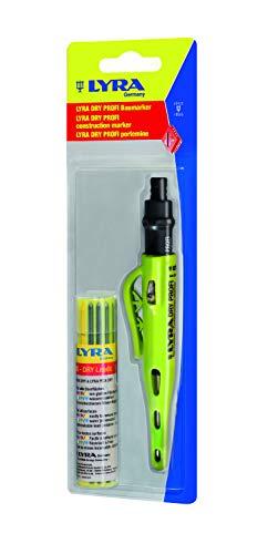 Lyra 4498102 Professionele markeerstift met dry-Leads vullingen, kleurrijk potlood voor alle oppervlakken, met puntenslijper