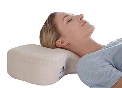 benepom Dual Plus Ergonomic Neck Support Pillow, Posture Pillow for Sleeping, Relieves Neck & Shoulder Pain, Supports Cervical Traction of Spine, Contour Pillow for Side, Back & Stomach Sleepers