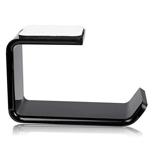 Prosty wieszak na słuchawki wieszak haczyk taśma pod biurkiem podwójny uchwyt na słuchawki, łatwy w użyciu