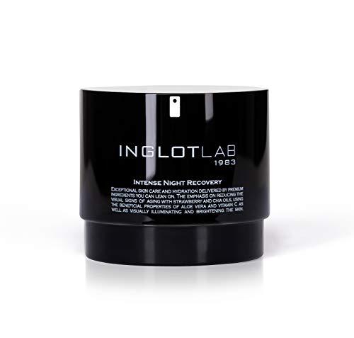 Inglot Lab Intense Night Recovery Gesichtscreme für die Nacht mit Ölen wie Erdbeersamen- und Chiasamenöl reduziert deutlich die Sichtbarkeit von Falten und verlangsamt...