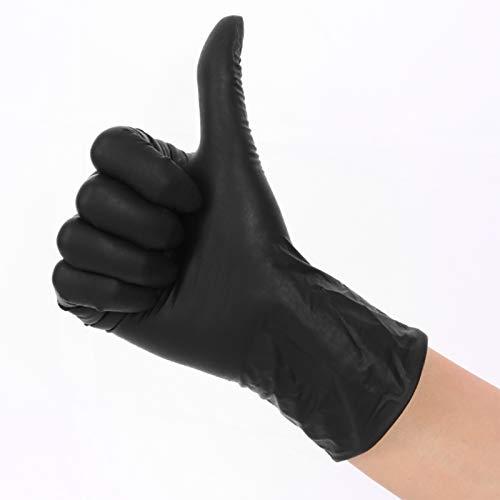 100 Pcs Disposable Nitrile Vinyl Blend Gloves Latex and Powder Free Multipurpose Working Gloves