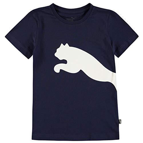 PUMA Jungen Big Cat QT T Shirt Junior Rundhals Baumwolle Marineblau 13 Jahre