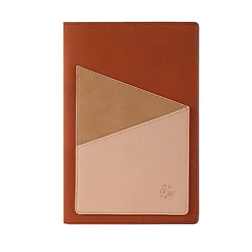 Guomipai Cuaderno de negocios A5 con caja de regalo engrosada, simple y creativa a la moda, regalo personalizado (100 hojas/200 páginas) (color marrón retro)