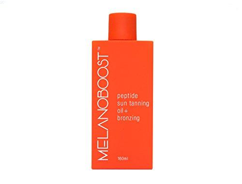 Melanoboost Peptide Sun Tanning Oil + Bronzing Melanin Boosting Tan Accelerator Oil - Peptide Tanning - Sunbed lotion -Tanning Bed Accelerator - Dark Tanning Oil - Australian Sun Tanning Oil