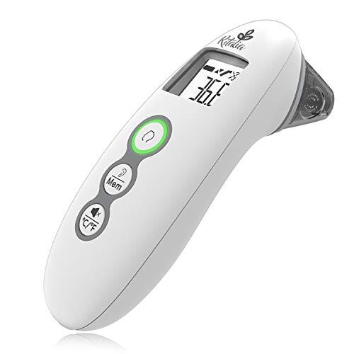 Ritalia Termómetro digital frente Termometro bebé Termometro frente y oído bebé. Termometro infrarrojos médico para fiebre. Termométro rápido en 1 segundo para bebés niños y adultos