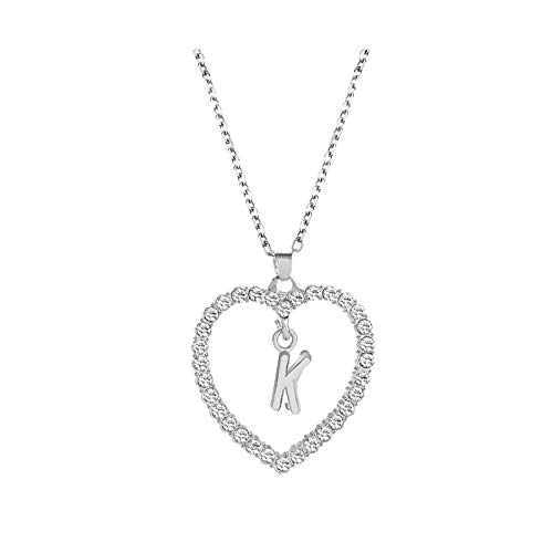 Pendant Necklace for Women Alphabet Jewelry Lover Heart Necklace Gifts Jewelry & Watches Necklaces & Pendants