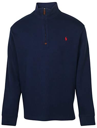 POLO RALPH LAUREN Men's Big & Tall Fleece 1/2 Zip Mock Sweater (1XB, Navy)