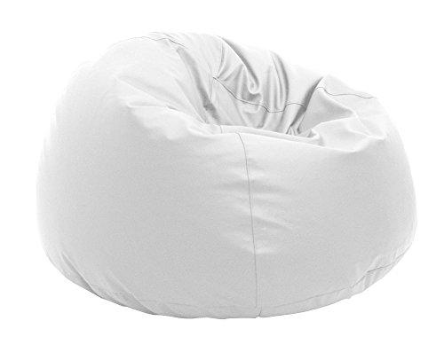 Pouf Beanbag Pommeau polyester imperméable pour extérieur XL 95 x 65 cm (Blanc)