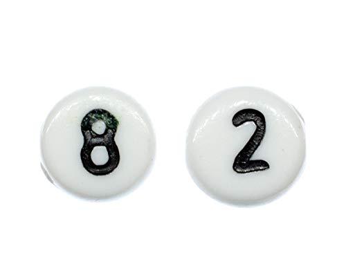 Choose A Number Earrings Ear Studs Miniblings Age Digits Numbers roundWhite 4+?, 2nd Figure:9
