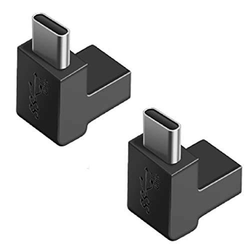 fine-R USB Type C 変換 アダプター 上下 90° 2個 セット L字 L型 USB3.1 高速充電 PD充電 データ同期 10Gbps タイプc 変換アダプタ 90度 オス メス USB C コネクター スリムデザイン