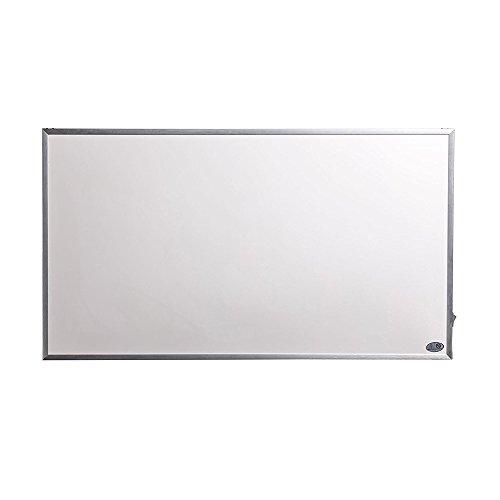 Infrarotheizung 600 Watt Glas Infrarot Heizung Design Elektrischer Heizk/örper doppelte Glaswand montierte wei/ße Farbe
