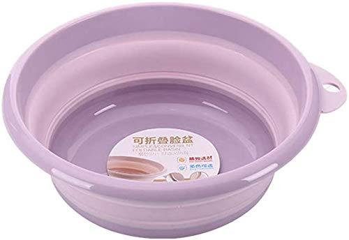 Kenyaw wastafel, voetenbad, multifunctionele inklapbare wasbak draagbare kunststof wastafel voor Home Travel, lila/L