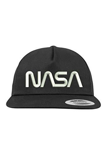 TRVPPY 5 Panel Snapback Cap Modell NASA, Weiß-Schwarz, B610
