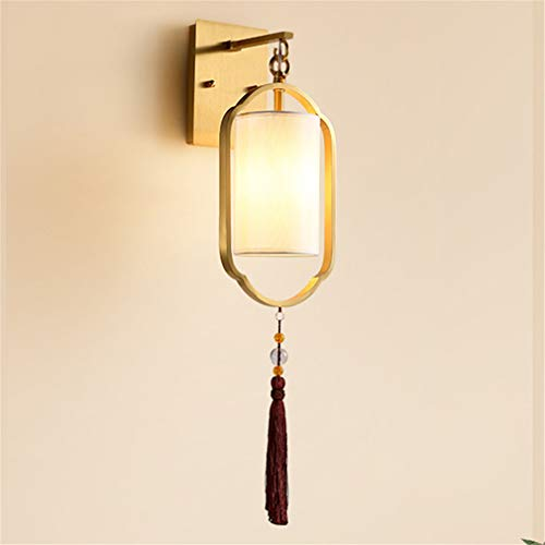 YaoXI koperen wandlamp, retro wandlamp, led, veiligheid wandlamp, voor loft, bar, café, restaurant, keuken, slaapkamer, bed, leeslamp