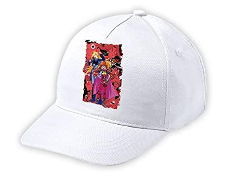 Gorra Blanca NIÑO Reena Y Gaudi Serie Anime Slayers Blanca Kid Cap
