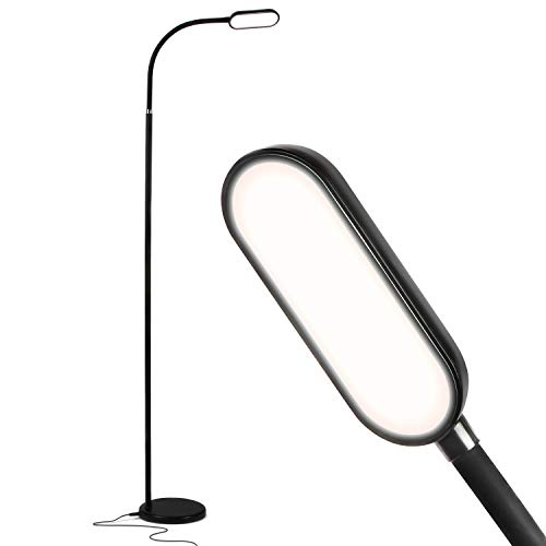 Brightech Battery Plus - Rechargeable Reading Floor Lamp, Portable Bright Task Standing Light for Living Room, Bedroom, Office