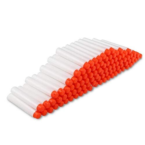 Darts Pfeile für Nerf Zubehör, 7.2cm Refill Bullets Pfeile Nachfüllpack Darts für N-Strike Elite Blasters Spielzeugpistole 100 Stück Weiß