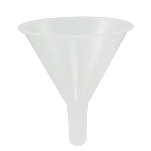 "Sonline 150ml 5 31/32"" Mouth Dia Laboratory Clear White Plastic Filter Funnel"