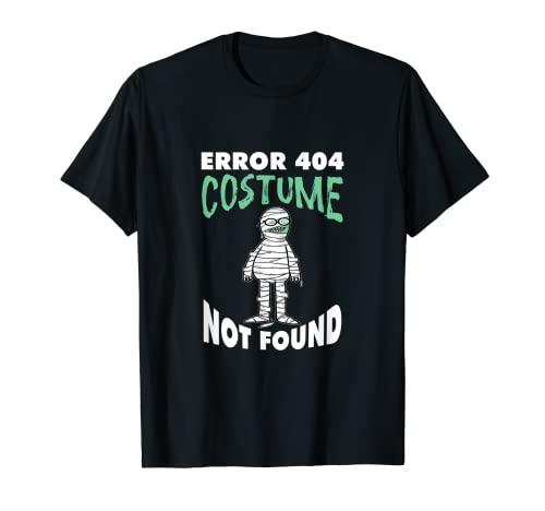 Error 404 disfraz no encontrado divertido perezoso Halloween Camiseta