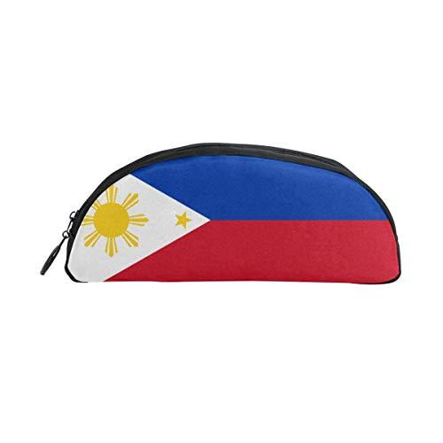Flag of The Philippines Semicircle Pencil Case Pen Pencil Case Portable Stylish Pen Case