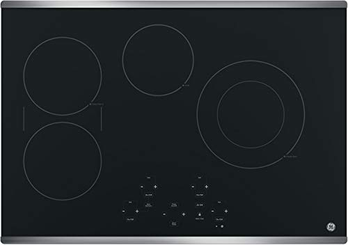 GE JP5030SJSS 30 Inch Smoothtop Electric Cooktop with SyncBurner, Keep Warm, Digital Touch Controls, 4 Radiant Elements, Built-in Timer, Melt Setting, ADA Compliant Fits Guarantee