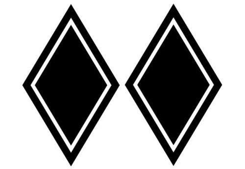 Finest Folia K080 Rauten Set Aufkleber LKW Sticker Folie (Schwarz Glanz)