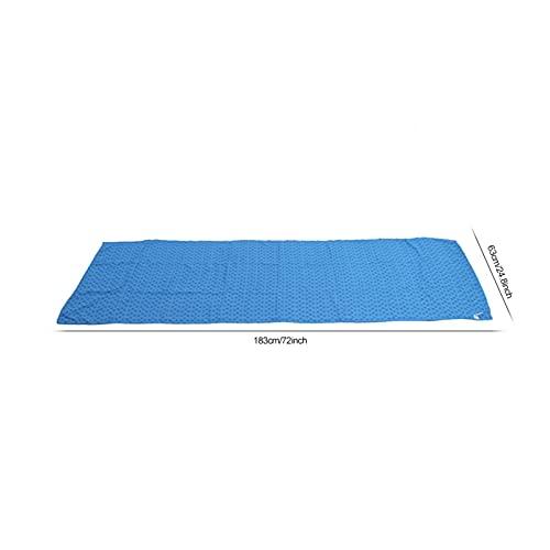 Toalla de Yoga Absorbente y Duradera de la Cubierta de la Estera de la Yoga para el Yoga Caliente para Pilates(Sky Blue)