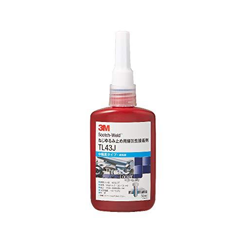 3M スコッチ・ウェルド ねじ緩み止め用 嫌気性接着剤 TL43J 50ml 中強度/高粘度