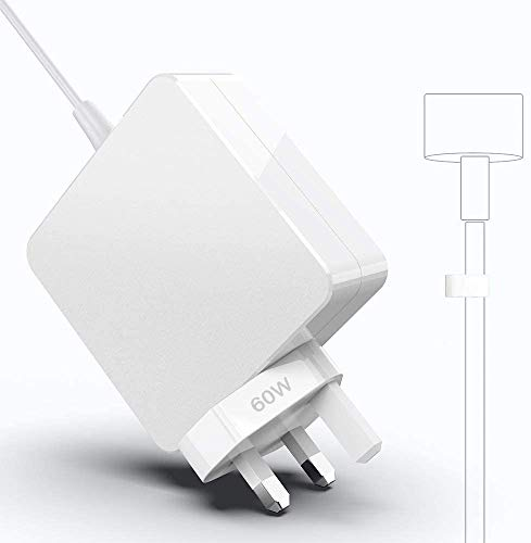 Mac Book Pro Charger 60W 2 Power Adapter T-Tip Magnetic Connector Charger for Mac Book Pro Retina 13-inch and Mac Book Air(After Late 2012),Works With 45W/60W