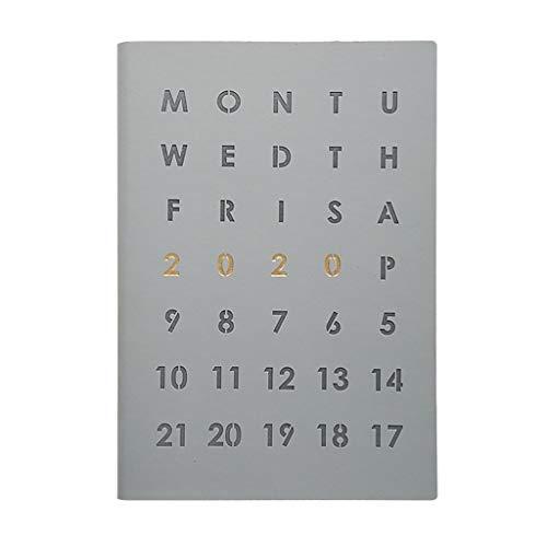 LYLY Cuaderno de agenda 2020, diario de negocios, planificador de notas, cuaderno para regalo de niños, papelería, diario, cuaderno de notas, organizador A5, cuaderno de notas (color gris)