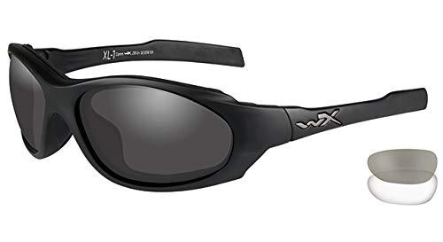 Wiley X XL-1 Advanced Comm Schutzbrille/sonnenbrille Zertifiziert Nach En.166f (eu-norm) Mit 2 Gläsern, matt schwarz, S-L